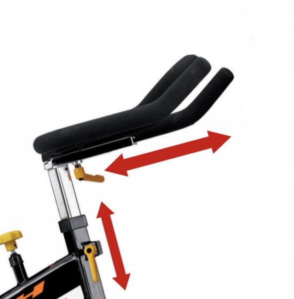 Cyklotrenažér BH FITNESS DUKE nastavení řídítek