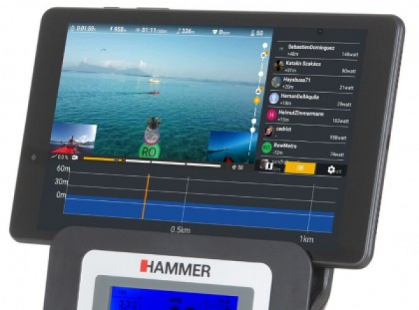 Veslovací trenažér Hammer Rower Cobra XTR Plus II aplikace