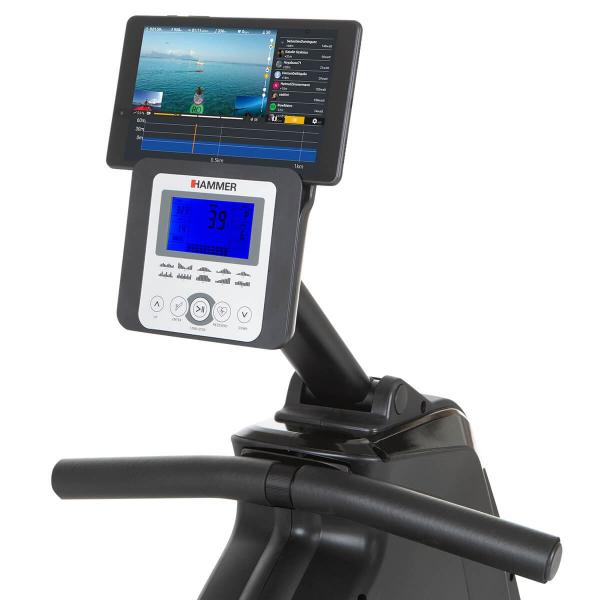 Veslovací trenažér Hammer Rower Cobra XTR Plus II držák na tablet