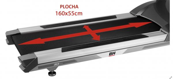 Běžecký pás BH FITNESS LK6800 SmartFocus plocha