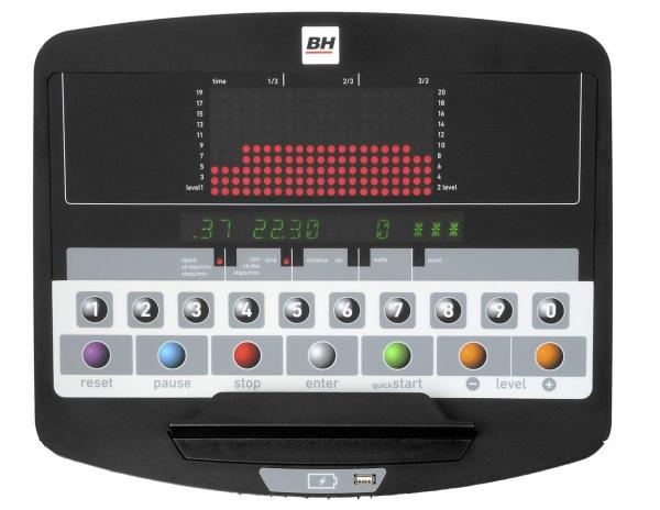 Eliptický trenažér BH Fitness SK9300 LED počítač