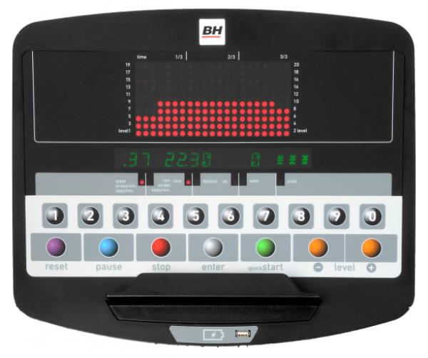 Eliptický trenažér BH Fitness LK8180 počítač