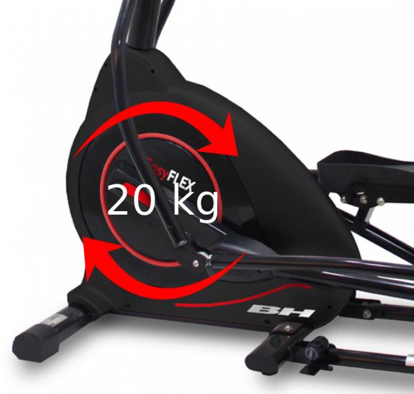 Eliptický trenažér BH Fitness Easy Flex setrvačníkový systém