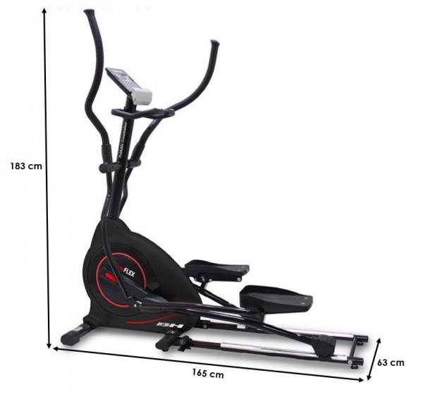 Eliptický trenažér BH Fitness EasyFlex počítač rozměry