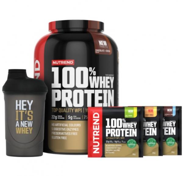 NUTREND 100% Whey Protein NEW TASTE 2250 g