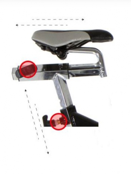 Cyklotrenažér BH Fitness SB2.6 sedlo