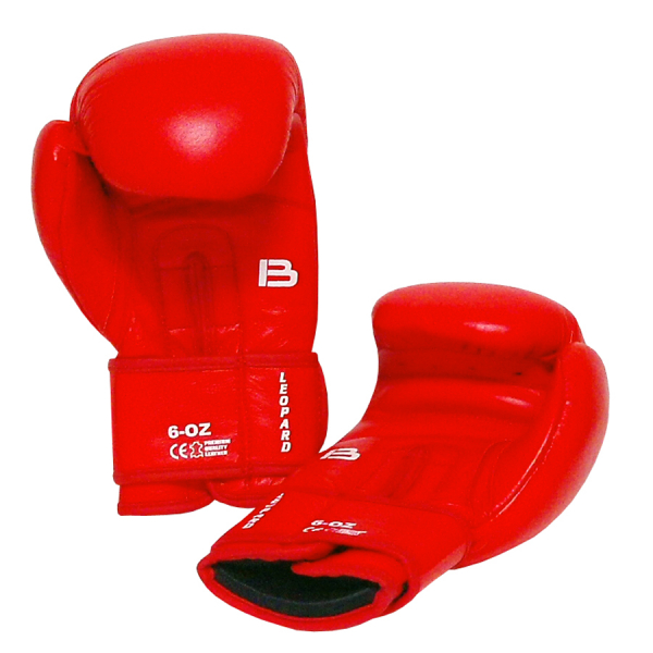 BAIL boxerské rukavice Leopard červené inside