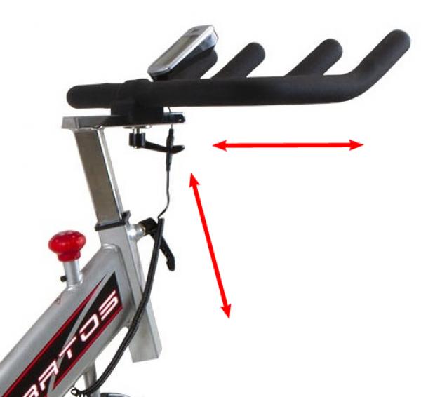 Cyklotrenažér BH FITNESS STRATOS nastavení řídítek_2
