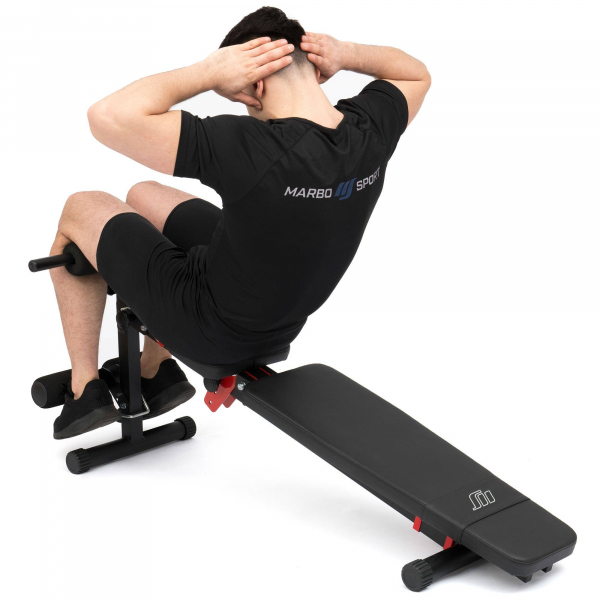 Posilovací lavice MARBO MH-L111 2.0 promo břicho 2