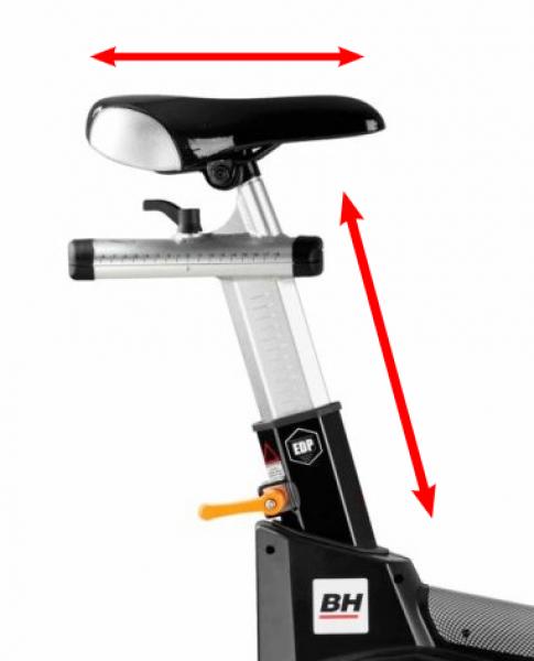 Cyklotrenažér BH Fitness Super Duke nastavení sedla
