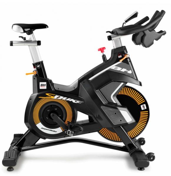 Cyklotrenažér BH Fitness Super Duke z boku
