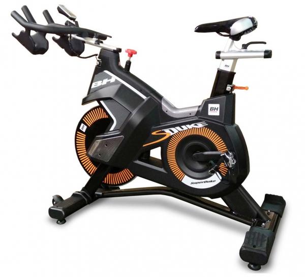 Cyklotrenažér BH Fitness Super Duke z profilu
