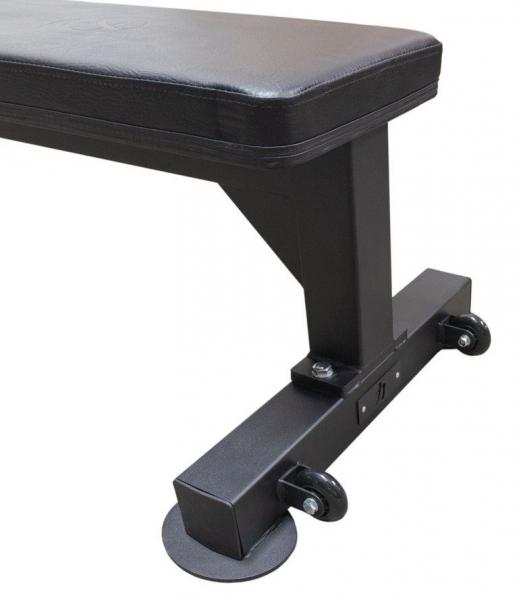 Posilovací lavice STRENGHSYSTEM Flat Bench V2 transportní kolečka