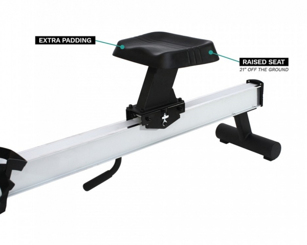 Veslovací trenažér Xebex Air Rower 3.0 sedlo