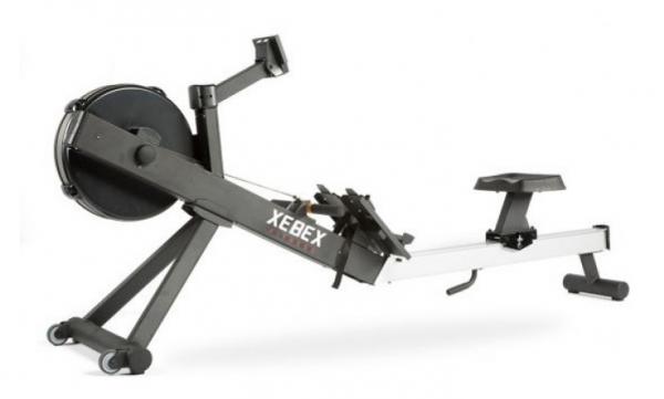 Veslovací trenažér Xebex Air Rower 3.0 z druhé strany