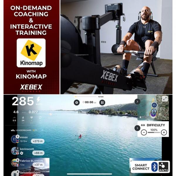 Veslovací trenažér XEBEX Rower 2.0_3.0_PR_interactive