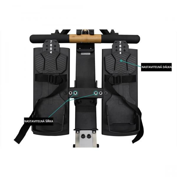 Veslovací trenažér XEBEX Air Rower 3.0 Smart Connect
