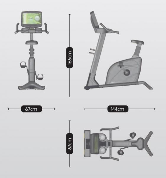 Rotoped BH Fitness Movemia BU1000 rozměry
