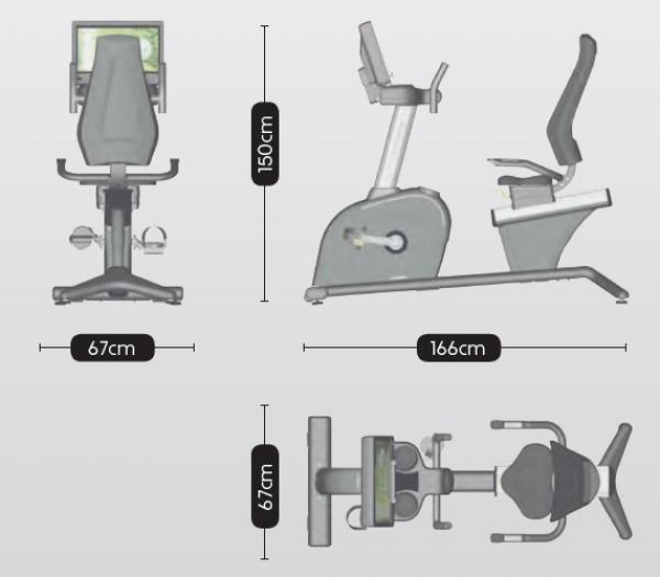 Rotoped BH Fitness Movemia BR1000 rozměry