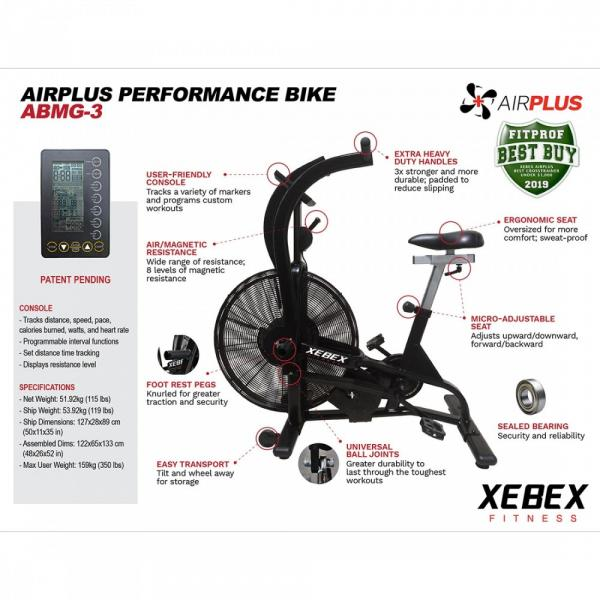 Rotoped XEBEX AirPlus Performance Bike Smart Connect atributy
