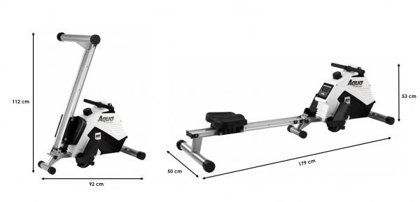 Veslovací trenažér BH Fitness Aqua rozměry