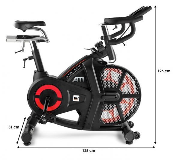BH Fitness AirMag rozměry