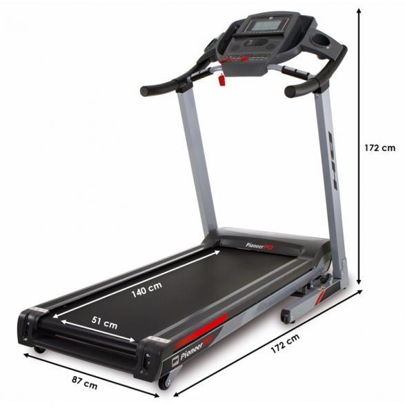 Běžecký pás BH Fitness Pioneer R7 rozměry