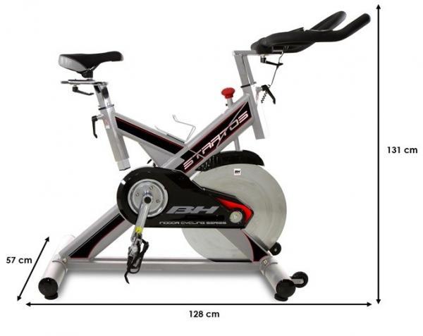 Cyklotrenažér BH FITNESS STRATOS rozměry