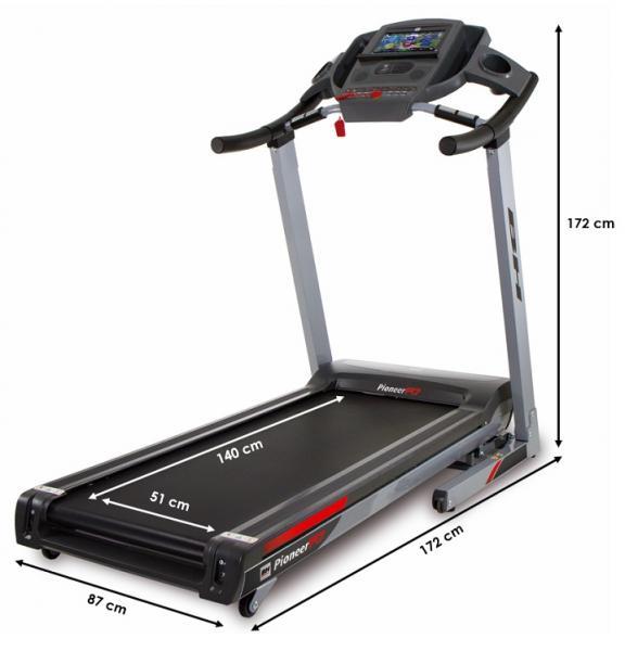 Běžecký pás BH Fitness Pioneer R7 TFT rozměry