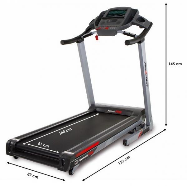 Běžecký pás BH Fitness Pioneer R9 TFT rozměry