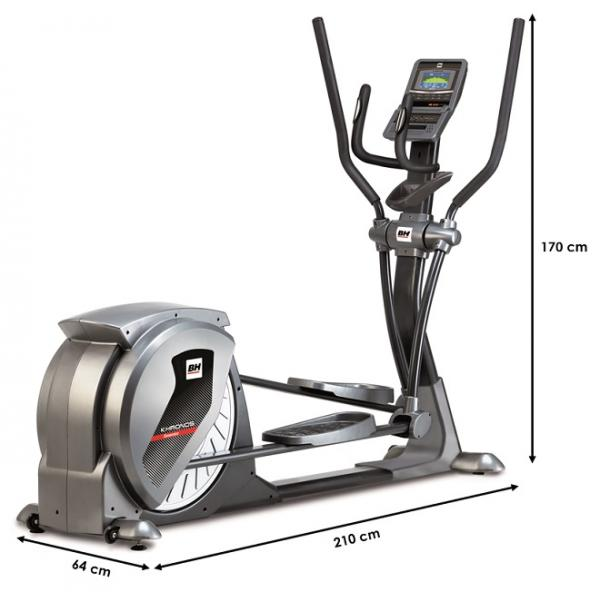 Eliptický trenažér BH Fitness Khronos Generator rozměry