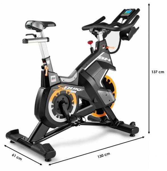 Cyklotrenažér BH Fitness SuperDuke Power rozměry