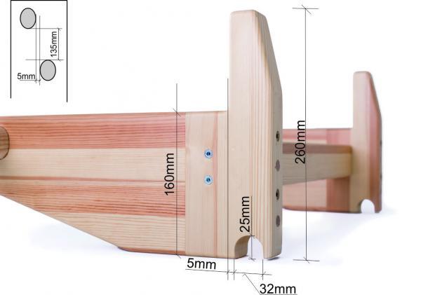 dřevěná hrazda rez okotováno 1
