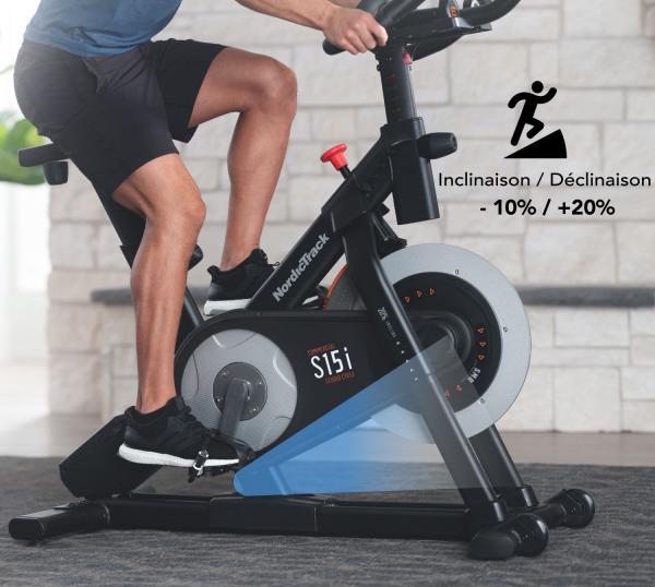 Cyklotrenažér NordicTrack Commercial S15i sklon 2