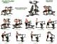 Posilovací věž  TUNTURI WT80 Leverage Gym serie cviků