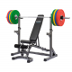 Posilovací lavice na bench press Set TRINFIT Rack HX3 a lavice Vario LX6 a činkag