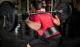 Fitness opasek kožený HARBINGER dřep