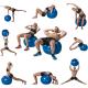 Gymnastický míč s pumpičkou TUNTURI cviky