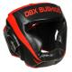 Boxerská helma DBX BUSHIDO červeno-černá