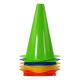 Plastové tréninkové kužely TUNTURI - 10 ks zelený