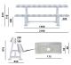 Stojan na jednoruční činky Rack Comfort TRINFIT - rozměry
