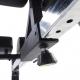 Posilovací lavice na záda Hyperextenze Glute Ham GHD TUNTURI - opěrky na nohy, nastavení