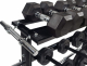 Tunturi odkládací stojan na kotouče a činky detail háčky na jednoruční hřídel 2