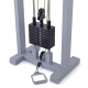 Kladkový stroj Protisměrná kladka s úzkou a širokou hrazdou FITHAM spodní kladka
