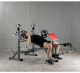 Posilovací lavice na bench press BH Fitness Optima Press Bench G330_cvik bench