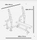 Posilovací lavice na bench press BH FITNESS L815 rozměry