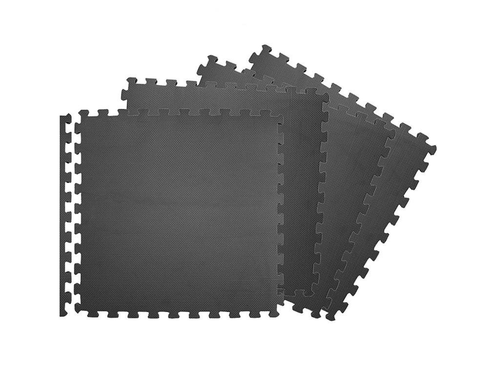 Podložka Fitness puzzle mat černá set 1g
