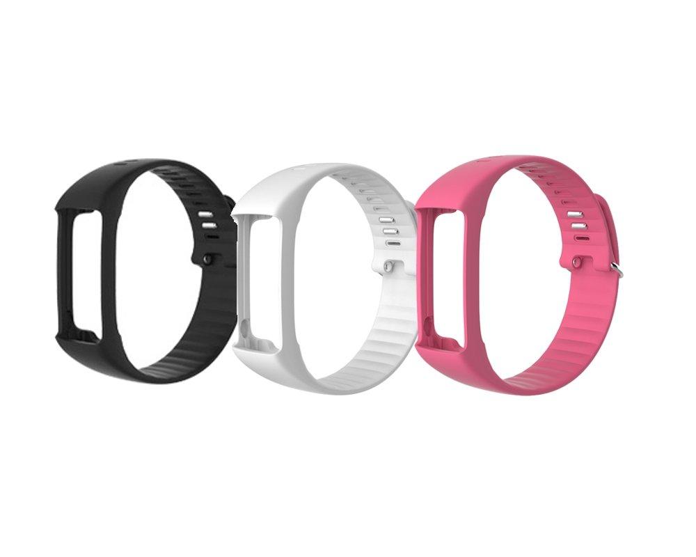 wristband blk whi roseg