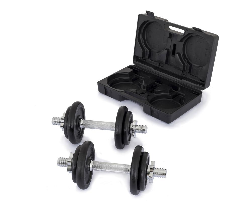 Činky jednoručky TRINFIT Činky jednoručky v kufříku 2x 10 kg 30 mmg