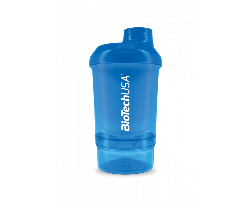 BIOTECH USA Shaker WAVE+ NANO 300 ml (+150 ml) modrý